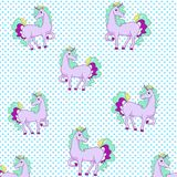 Cute unicorn and star background and white background Royalty Free Stock Photography