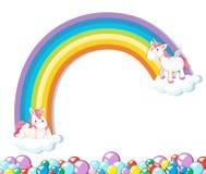 Cute unicorn on white background stock photo