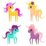 Cute unicorns. Vector illustration Royalty Free Stock Photo