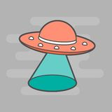Cute unidentified flying object Royalty Free Stock Photos