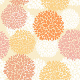 Cute unique floral autumn pattern.  Royalty Free Stock Images