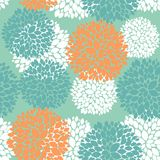 Cute unique floral autumn pattern Stock Image