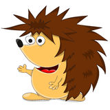 Cute unusual vector cartoon hedgehog Royalty Free Stock Images