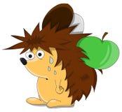Cute unusual vector cartoon hedgehog Royalty Free Stock Photography