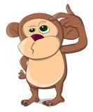 Cute unusual vector thinking monkey Royalty Free Stock Image