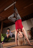 Cute Upside Down Dancer Royalty Free Stock Images
