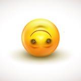 Cute upside down face emoticon, emoji - vector illustration Royalty Free Stock Photos