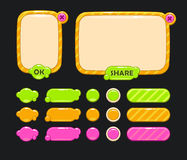 Cute  user interface Stock Images