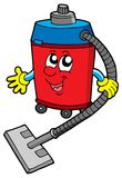 Cute vacuum cleaner Royalty Free Stock Images