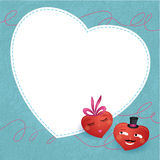 Cute valentine´s hearts. Royalty Free Stock Images