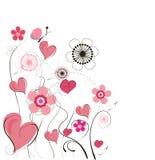 Cute valentine background vector illustration