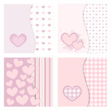 Cute valentine cards Royalty Free Stock Photo