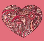 Cute valentine drawing.  Royalty Free Stock Photo