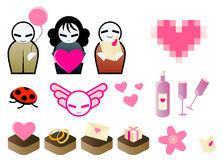 Cute Valentine Elements Stock Images