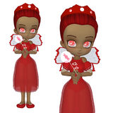 Cute Valentine fairy Royalty Free Stock Image