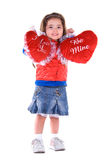 Cute Valentine girl. Royalty Free Stock Photography
