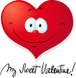 Cute valentine heart - vector Royalty Free Stock Photos