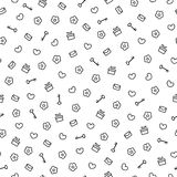 Cute valentine monochrome seamless pattern. Pretty background.  Romantic wallpaper. Royalty Free Stock Image