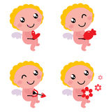 Cute valentine's cupid or angel Royalty Free Stock Image