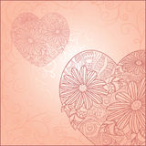 Cute valentine`s day card Stock Images
