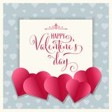Cute Valentine`s day card stock illustration