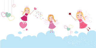 Cute valentine`s day fairy Royalty Free Stock Photo