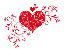 Cute valentine's day heart Stock Images
