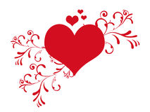 Cute valentine's day heart ve Royalty Free Stock Photo
