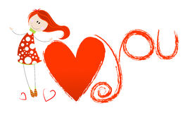 Cute Valentine's Day Illustration Stock Photos