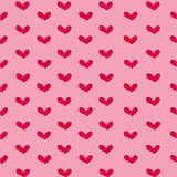 Valentine`s day wallpaper with red heart and pink background. Cute Valentine`s day wallpaper with red heart and pink background Stock Photos