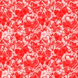 Cute valentine`s seamless pattern with hearts. Love theme. Weddi Stock Photo
