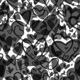 Cute valentine`s seamless pattern with hearts. Love theme. Weddi Stock Image