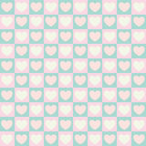 Cute valentine's seamless pattern with hearts Stock Photo