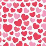 Cute valentine's seamless pattern with hearts. Seamless pattern with valentine hearts, sketch drawing for your design Royalty Free Stock Photography