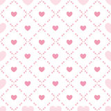 Cute valentine's seamless pattern with hearts Stock Images