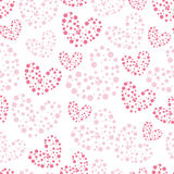 Cute valentine's seamless pattern with hearts Royalty Free Stock Image