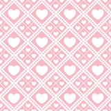 Cute valentine's seamless pattern with hearts. Seamless pattern with valentine hearts, sketch drawing for your design Royalty Free Stock Image