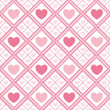 Cute valentine's seamless pattern with hearts. Seamless pattern with valentine hearts, sketch drawing for your design Stock Photography