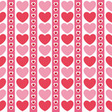 Cute valentine's seamless pattern with hearts. Seamless pattern with valentine hearts, sketch drawing for your design Stock Images