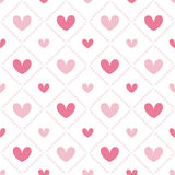Cute valentine's seamless pattern with hearts. Seamless pattern with valentine hearts, sketch drawing for your design Stock Photo