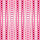 Cute valentine's seamless pattern with hearts Stock Photography