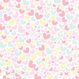 Cute valentine's seamless pattern with hearts. Seamless pattern with valentine hearts, sketch drawing for your design Stock Photos