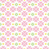Cute valentine's seamless pattern with hearts Royalty Free Stock Photo