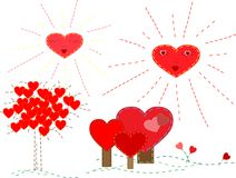 Cute Valentine's set Stock Images