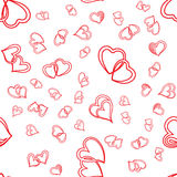 Cute valentine seamless pattern with hearts. Vector illustration Royalty Free Stock Photos