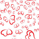 Cute valentine seamless pattern with hearts. Vector illustration Stock Images