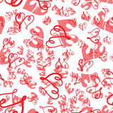 Cute valentine seamless pattern with hearts. Vector illustration Royalty Free Stock Image