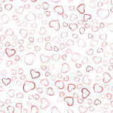 Cute valentine seamless pattern with hearts Stock Image
