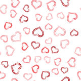 Cute valentine seamless pattern with hearts Stock Photos