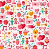 Cute Valentine seamless pattern. Stock Photos